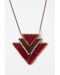 Anthropologie | Red Pennypack Amulet Necklace | Lyst