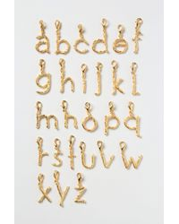 Anthropologie - Metallic Twig Monogram Collectors Charm - Lyst