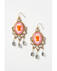 Anthropologie - Pink Color Cameo Drops - Lyst