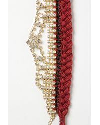Anthropologie | Red Paramour Braided Bracelet | Lyst
