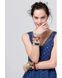 Anthropologie - Red Paramour Braided Bracelet - Lyst