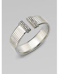 Ca&Lou - Metallic Margherita Ribbed Cuff Bracelet - Lyst