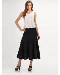 Catherine Malandrino | Black Layer Knit Skirt | Lyst