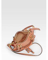 Chloé | Pink Mini Marcie Crossbody Bag | Lyst