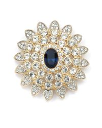 Kenneth Jay Lane - Metallic Starburst Brooch - Lyst