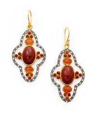 Kevia - Red Jasper Carnelian Ornante Earrings - Lyst