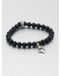 King Baby Studio - Black Onyx Beaded Bracelet for Men - Lyst