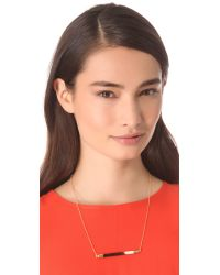 Kristen Elspeth - Metallic Bar Necklace - Lyst