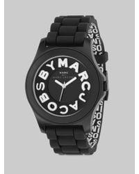 Marc By Marc Jacobs | Black Sloane Logo Strap Watch | Lyst