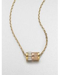 Michael Kors   Metallic Barrel Pendant Necklace   Lyst