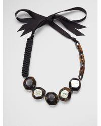 Weekend by Maxmara - Black Beaded Necklace - Lyst