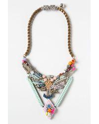 Shourouk - Metallic Beaded Phoenix Necklace - Lyst
