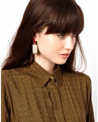 ASOS | Red Lipstick Earrings | Lyst