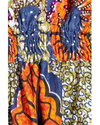 Easton Pearson | Blue Sea Urchin Printed Cotton Dress | Lyst