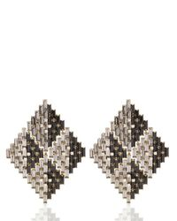 Erickson Beamon | Gray Xenon Earrings | Lyst