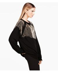 H&M | Black Short Glittery Top | Lyst
