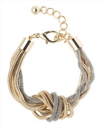 Jaeger | Metallic Knotted Snake Chain Bracelet | Lyst