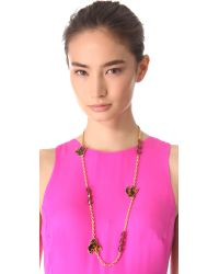 Marc By Marc Jacobs | Metallic Petal To The Metal Long Necklace | Lyst