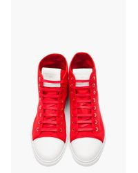 Marc Jacobs - Red and White Parker Hightop Sneakers for Men - Lyst