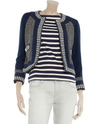 Tory Burch - Blue Leandra Cottonblend and Stretchwool Jacket - Lyst
