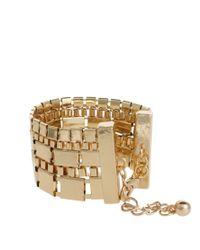 ASOS - Metallic Pack Of Two Pharoah Bracelets - Lyst