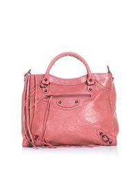 Balenciaga | Pink Classic Velo Bag | Lyst