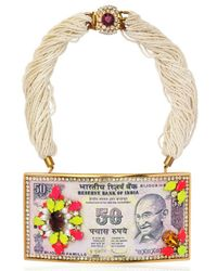 Bijoux De Famille - Pink Maharani Leather and Tin Necklace - Lyst