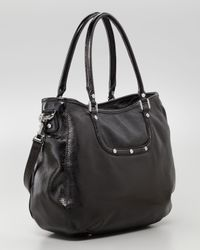 Tory Burch - Black Amanda Patent Classic Hobo Bag - Lyst