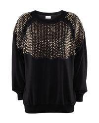 H&M - Black Short Glittery Top - Lyst