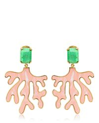 House of Lavande | Green Everglades Coral Earrings | Lyst