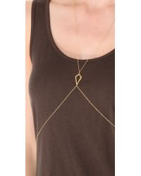 Jacquie Aiche - Metallic Cz Large Kite Body Chain - Lyst