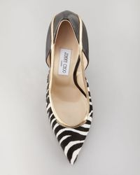 Jimmy Choo | Black Viper Calf Hair Stiletto Pump | Lyst