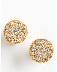 kate spade new york | Metallic Crystal Goldtone Stud Earrings | Lyst