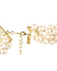 kate spade new york - Pink Belle Fleur Bridal Necklace - Lyst