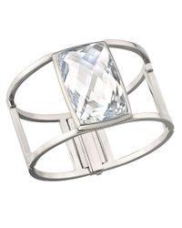 Swarovski - Metallic Nirvana Crystal Cuff Bracelet - Lyst