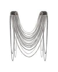 TOPSHOP - Metallic Bead Shoulder Drape Necklace - Lyst
