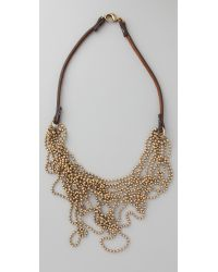 Club Monaco | Metallic Messy Ball Chain Necklace | Lyst