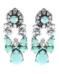 Shourouk | Metallic Mia Silverplated Swarovski Crystal Earrings | Lyst