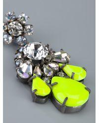 Shourouk - Yellow Crystal Earring - Lyst