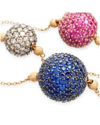 Astley Clarke - Multicolor Naiya Five Ball Necklace - Lyst