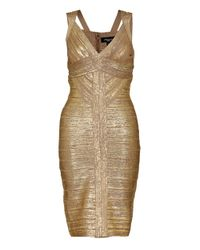 Aftershock - Metallic Theophila Bodycon Dress - Lyst