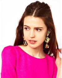 ASOS - Metallic Fruit Doorknocker Earrings - Lyst