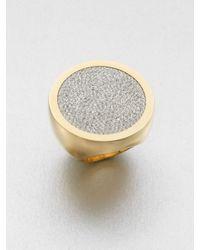 Michael Kors - Metallic Paveacute Slice Ring - Lyst