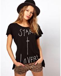 Wildfox - Black Star X Lovers Tshirt - Lyst