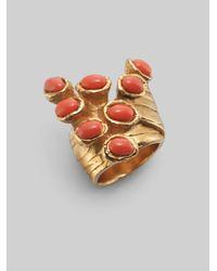 Saint Laurent | Metallic Arty Dots Ring | Lyst