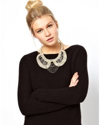 ASOS - Natural Pearl Chain Collar Necklace - Lyst