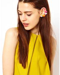 ASOS | Multicolor Jewel Double Ear Cuff | Lyst