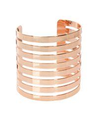 ASOS | Metallic Cut Out Stripe Cuff Bracelet | Lyst