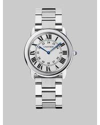 Cartier Metallic Ronde Solo Large Stainless Steel Bracelet Watch