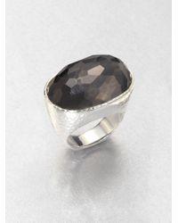 Ippolita   Black Hematite Doublet Sterling Silver Oval Ring   Lyst